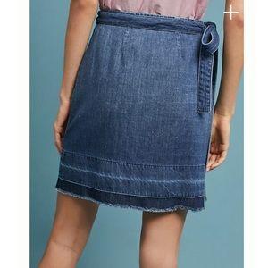 80d309e23 Anthropologie Skirts - Anthropologie Cloth & Stone Denim Wrap Skirt